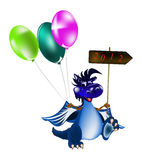 GoDark blue dragon-New Year's a symbol of 2012. Dark blue dragon a symbol of new 2012 on east calendar stock illustration