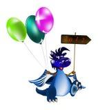 GoDark blue dragon-New Year's a symbol of 2012 Royalty Free Stock Photo