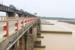 GODAVARI Dowleswaram Barrage. Dowleswaram Barrage is an irrigation structure which is built on the lower stretch of the Godavari River also called Sir Arthur stock image