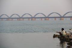 Godavari indio del río Foto de archivo libre de regalías