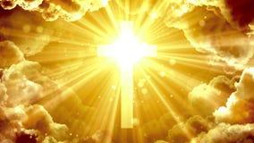 Goddelijk hemels kruis royalty-vrije illustratie