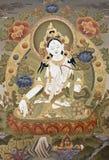 goddes tangka塔拉西藏白色 免版税库存图片