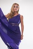 Goddess. Beautiful tall blonde in the costume of a Greek goddess Royalty Free Stock Images