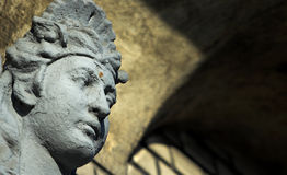 Goddess. Wall sculpture - architectural element of the tenement stock photo