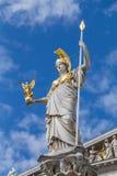Goddess Athena statue outside Austrian Parliament Stock Photo