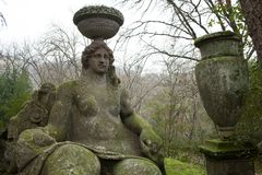 Goddess Ceres Statue, Bomarzo, Italy Stock Images