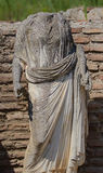 Goddess Demetra. Statue of Goddess Demetra in Greece Dion Stock Photo