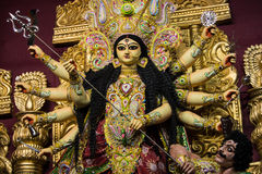 Goddess durga clay idol Royalty Free Stock Photography