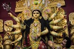 Goddess durga clay idol Royalty Free Stock Photography
