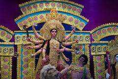 Goddess durga clay idol Royalty Free Stock Images