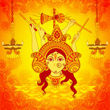Goddess Durga for Dussehra in Indian art style Stock Image
