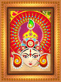 Goddess Durga in frame for Happy Dussehra. Royalty Free Stock Image