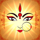 Goddess Durga for Happy Dussehra celebration. Stock Image