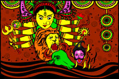 Goddess Durga for Happy Dussehra Stock Images