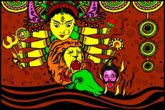 Goddess Durga for Happy Dussehra Stock Images