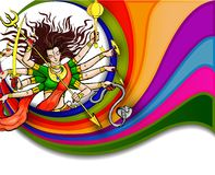 Goddess Durga for Happy Dussehra Stock Photos