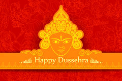 Goddess Durga for Happy Dussehra Stock Photography