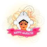 Goddess Durga for Happy Navratri celebration. Royalty Free Stock Image