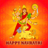 Goddess Durga for Happy Navratri in Indian art style Stock Images