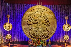 Goddess Durga idol Durga Puja Festival Calcutta Royalty Free Stock Photo