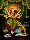 Goddess Durga killing demon Mahishasura for Happy Vijayadashami Dussehra Stock Photo