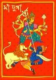 Goddess Durga in Subho Bijoya Happy Dussehra background Stock Image