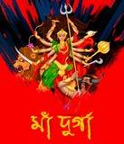 Goddess Durga in Subho Bijoya Happy Dussehra background Stock Photos