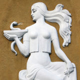 Goddess Gig (in ancient Greek mythology she gives to people's he Stock Images