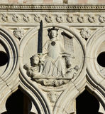 Goddess of Justice from Doge's Palace in Venice Stock Images