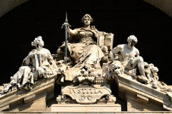 The Goddess of Justice. Justice Marble statue in the Palace of Justice in Rome Stock Photo
