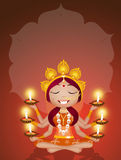 Goddess Kai for Diwali Stock Photography