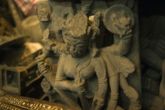 Goddess Kali Ma on Chor Bazaar - Antique Indian Thieves Market Stock Image