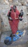Goddess Kali Ma Murti in Jaipur Temple near local smashan. Statu Stock Photography