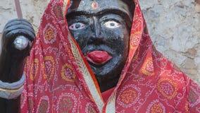 Goddess Kali Ma Murti in Jaipur Temple near local smashan Stock Images