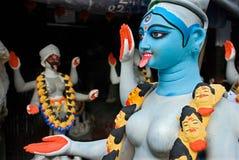 Goddess kali making at kumartuli kolkata