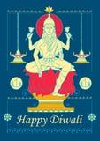 Goddess Lakshmi for Diwali prayer Royalty Free Stock Photography