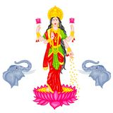 Goddess Lakshmi Royalty Free Stock Photo