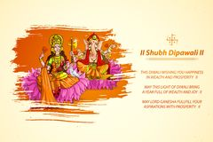 Goddess Lakshmi and Lord Ganesha in Diwali Royalty Free Stock Photography
