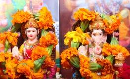 Goddess Lakshmi and Lord Ganesha Royalty Free Stock Image