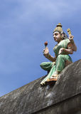 Goddess Lakshmi on temple wall. Royalty Free Stock Image