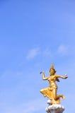 Goddess of lightning statue. In Thailand stock photo