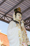Goddess of mercy (Guan Yin) statue. In asian temple Stock Photos