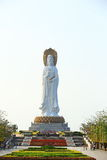Goddess of mercy statue at seaside in nanshan temple, hainan island Stock Image