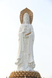 Goddess of mercy statue at seaside in nanshan temp Royalty Free Stock Images
