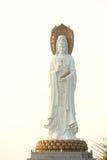 Goddess of mercy statue at seaside in nanshan temple, hainan island Royalty Free Stock Image