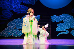 The goddess of the moon and the moon-Jiangxi OperaBlue coat Stock Images