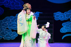 The goddess of the moon and the moon-Jiangxi OperaBlue coat Stock Image
