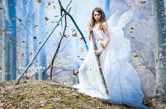 Goddess of nature. Beautiful girl posing as the goddess of nature Royalty Free Stock Photos
