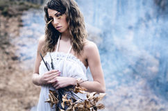 Goddess of nature Stock Photography