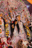 Goddess  pandal in durga puja Royalty Free Stock Images